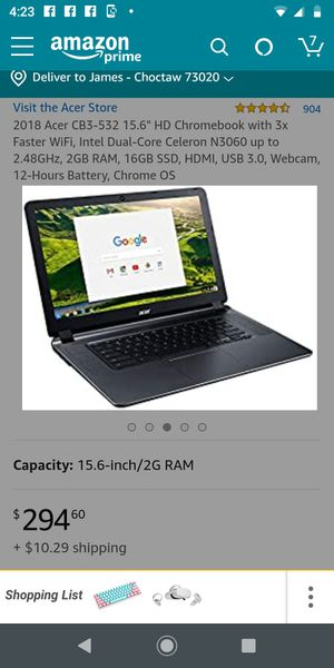 Acer chromebook (read description) for Sale in Choctaw, OK