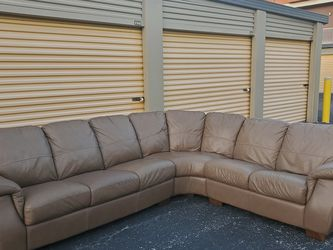 *FREE DELIVERY* Brown Leather Sectional for Sale in Clearwater,  FL