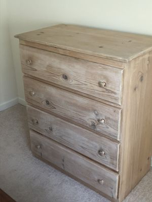Unfinished 4 drawer dresser for Sale in Silver Spring, MD