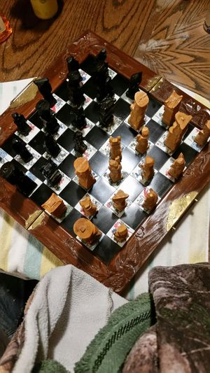 Vintage Wooden Foldable Chessboard for Sale in Anderson, SC