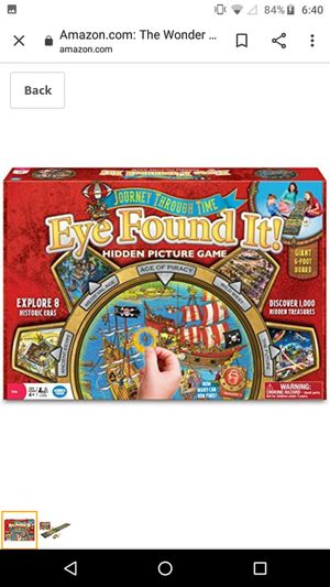Journey through Time Eye Found It Hidden Picture Game for Sale in St. Petersburg, FL