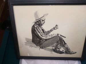 Cowboy cleaning Revolver by Donald Putt Putman for Sale in Elk Grove, CA