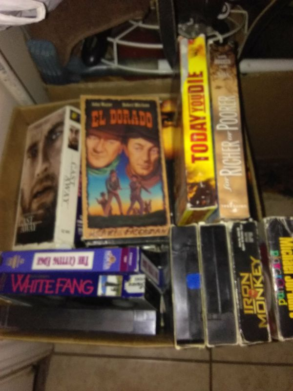 2 boxes of VHS tapes 50 tapes to a box 20$ each