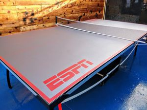 ESPN limited edition Platinum color top professional size ping pong table... $299 or best offer new in box ( NOT FREE ) for Sale in Downey, CA