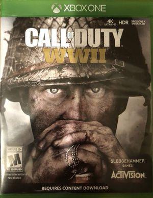 Call of duty WW2 Xbox one for Sale in Lake Stevens, WA