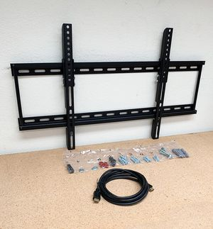 """New, $18 Tilt 32""""-65"""" TV Wall Mount Bracket and 10ft HDMI Cable Combo Set for Sale in Whittier, CA"""