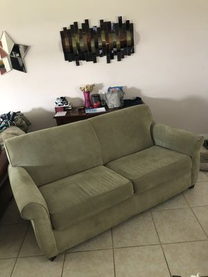 Green couch for Sale in Cape Coral, FL