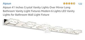 """LED Vanity light Aipsun 41"""" Crystal 6 Lights for Sale in Winchester, CA"""