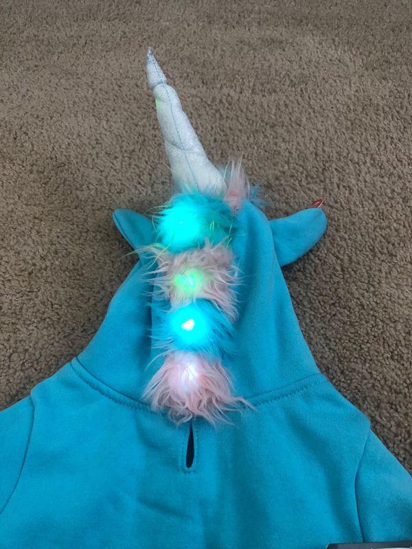 Halloween Unicorn Light up Dog costume