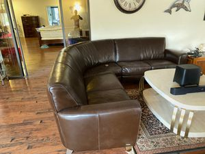 With leather sectional couch for Sale in Fort Lauderdale, FL