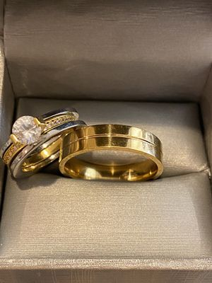 Cute 18K Gold plated Matching Ring Set—Code ATS26 for Sale in Seattle, WA
