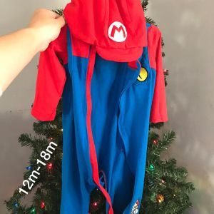 Mario Zip Up Costume Size 12m-18m for Sale in Panama City, FL
