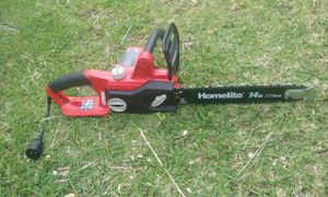 Electric chainsaw practically new price is firm no lowballers please no trades for Sale in Fontana, CA