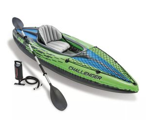 Intex Challenger K1 Inflatable Kayak with Oar and Hand Pump for Sale in Dallas, TX
