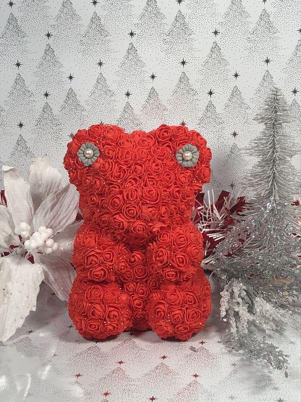 Foam Christmas Rose Bear Handmade By Me