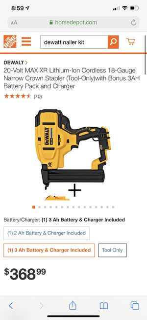 DeWALT power tools - nailer kit with chargers and all for Sale in San Diego, CA