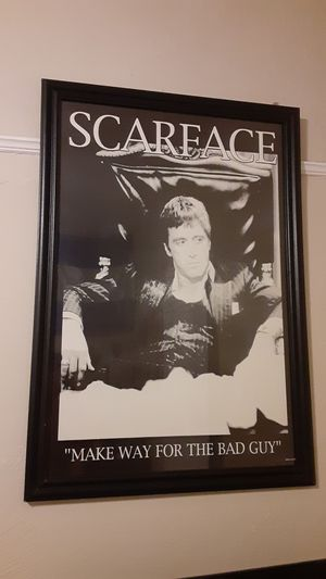 Scarface Framed Poster for Sale in Los Angeles, CA