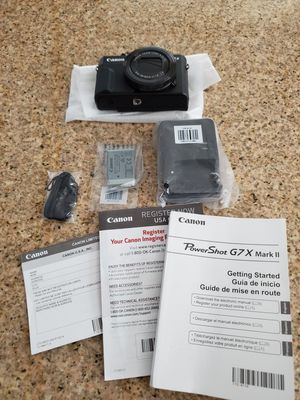 Canon Powershot G7 X Mark II Black New for Sale in Brentwood, CA