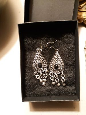 Silver and black earrings for Sale in Toms River, NJ