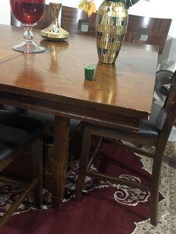 Cheery Wood Height Table With 6 Chairs for Sale in Everett,  WA