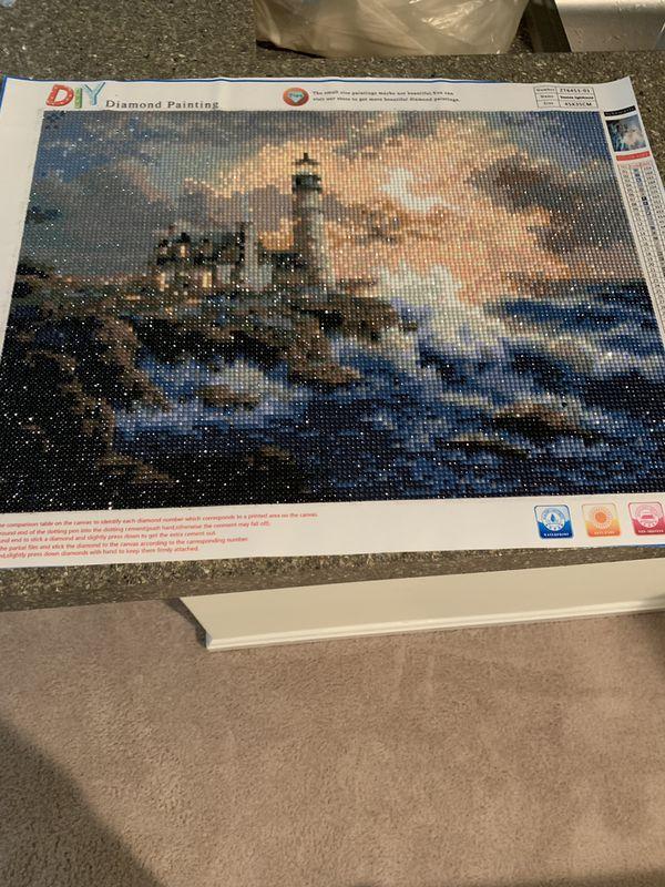 Seaside lighthouse 45*35 cm