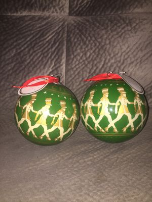 4 1/2 Radio City Rockette Hand Painted Glass Ornament - 10 for both for Sale in Clearwater, FL