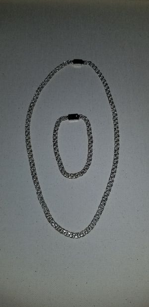 Cadena y pulsera de plata for Sale in Houston, TX