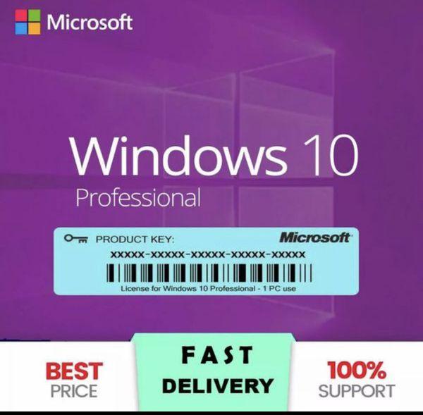 Microsoft Windows 10 Professional Pro 32/64 bit Product Key Activation