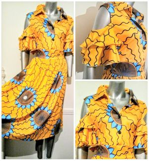 Sunflower Cold Shoulder Yellow dress plus 3x for Sale in Whittier, CA