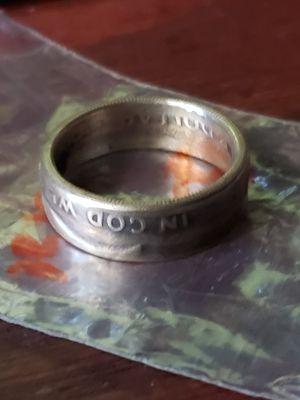 1955 Benjamin Franklin Half Dollar Coin Ring Size 12 1/2 for Sale in Bakersfield, CA