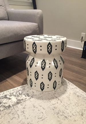 Chic Ikat Stool or Side Table for Sale in Philadelphia, PA