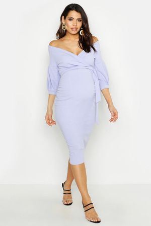 Maternity dress lilac lavender babyshower dress for Sale in Bloomington, CA