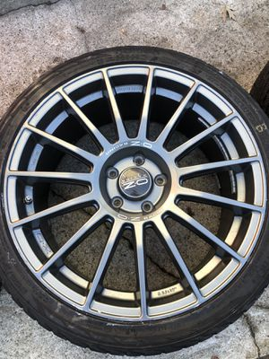 OZ Racing SuperTurismo 19x8.5 5x112 Wheels With Snow Tires for Sale in Lowell, MA