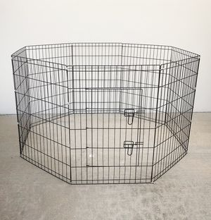 "New $40 Foldable 36"" Tall x 24"" Wide x 8-Panel Pet Playpen Dog Crate Metal Fence Exercise Cage for Sale in South El Monte, CA"