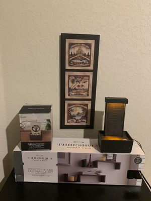 Wall decorations and 2 table fountains for Sale in San Antonio, TX