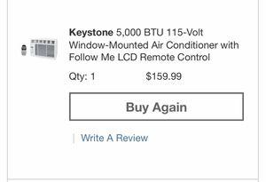 5000 BTU WINDOW AC unit with remote for Sale in La Mesa, CA