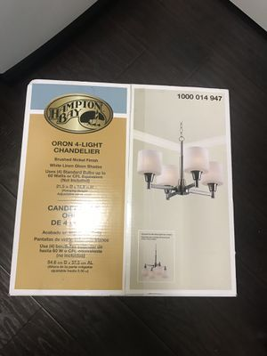 Brand new Hampton Bay Chandelier 4 light for Sale in Tarpon Springs, FL