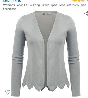 Comfortable gray cardigan- size large- brand new!!! for Sale in Menomonee Falls, WI