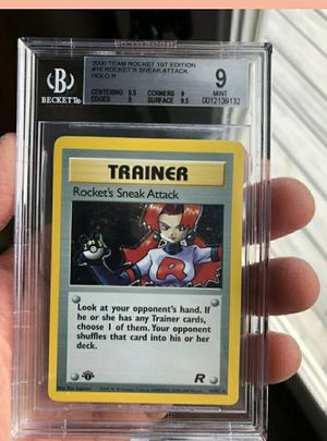 Pokemon 1st edition graded card for Sale in St. Louis, MO