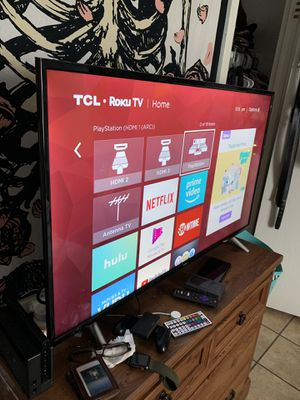 """TCL 4K 120hz HDR smart roku tv 43"""" for Sale in Baytown, TX"""