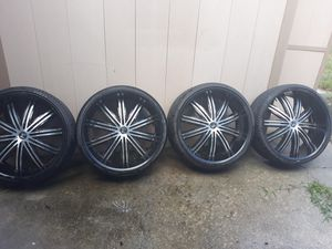 24 Inch Rims And Tires for Sale in Orlando, FL