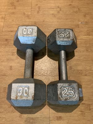 Cast Iron Dumbbells for Sale in Denver, CO