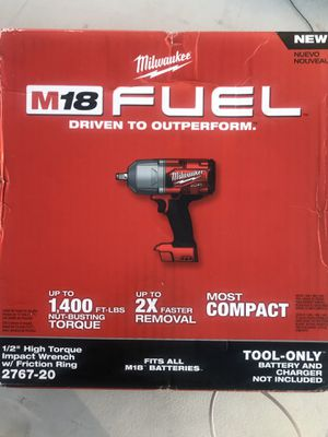 Milwaukee M18 FUEL 1/2 in. High Torque Impact Wrench with Friction Ring (Tool-Only) New for Sale in San Diego, CA