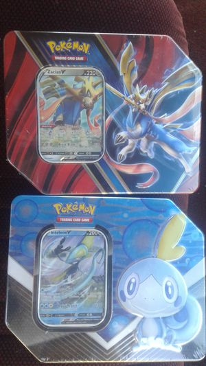 Pokemon tin sets. for Sale in Seattle, WA