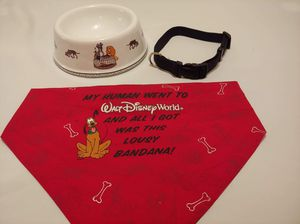 Disney dog bowl/collar for Sale in Largo, FL