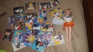 Vintage Sailor moon cards and doll $10 for Sale in Tacoma, WA