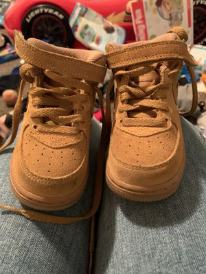 Toddler Sz 6 Nike Force 1 Mid LV8 Wheat for Sale in Oxon Hill, MD
