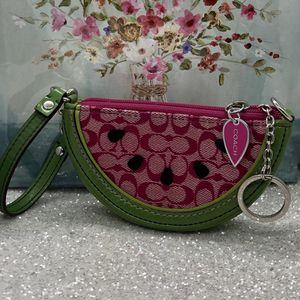 COACH Watermelon Wristlet Keychain Wallet for Sale in Lake Hughes, CA
