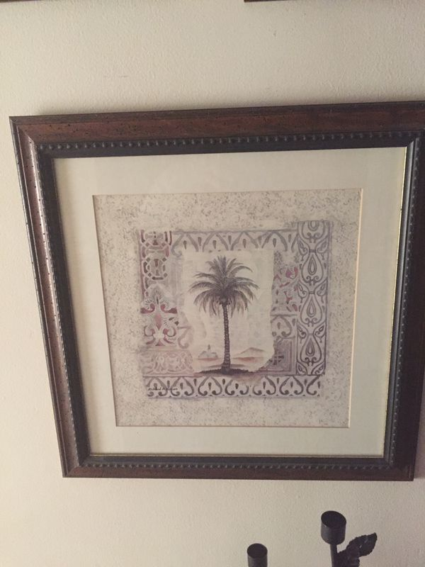 Wood three piece wall pictures