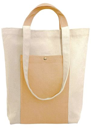 Heavy Duty Canvas Two-Tone Tote Shoulder Bag for Women with Handles for Shopping, Work, School & Gym for Sale in Suwanee, GA